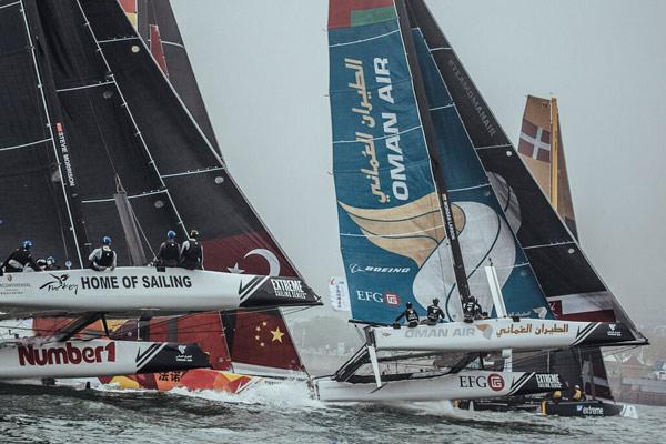 极限帆船系列赛青岛站:阿曼航空获亚军总分第一